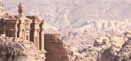 Petra Deir Reise Jordanien