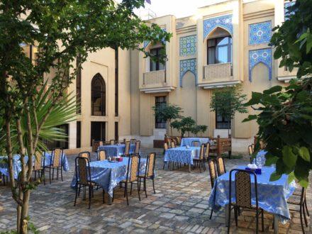 Restaurant Terrasse Omar Khayam Hotel Buchara Usbekistan
