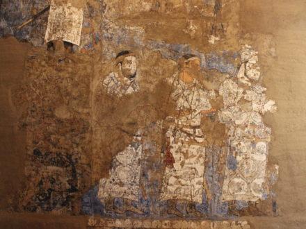 Fresko Prozession Afrosiyab Samarkand Archäologie Usbekistan