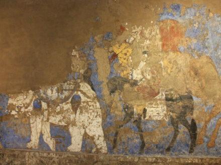 Fresko Elefant Afrosiyab Samarkand Archäologie Usbekistan
