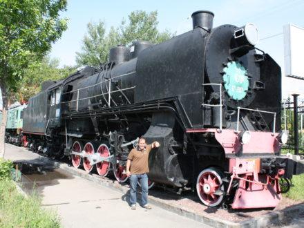 Dampflokomotive Eisenbahn Usbekistan Museum