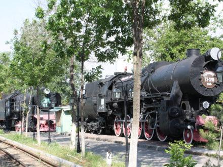 Dampflokomotiven Eisenbahn Usbekistan Museum