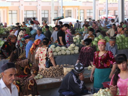 Blumenkohl Basar Samarkand Usbekistan Reise