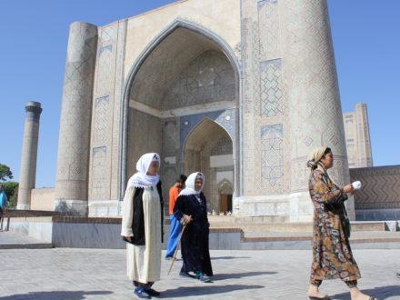 Bibi Khanoum Frauen Samarkand Usbekistan Reise