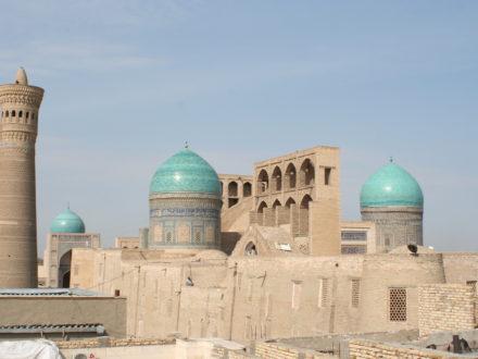 Blick von der Dachterrasse Omar Khayam Hotel Buchara