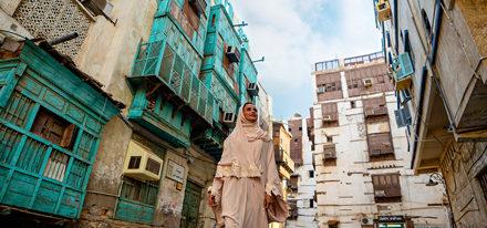 Frau Reisen Saudi Arabien Studienreise